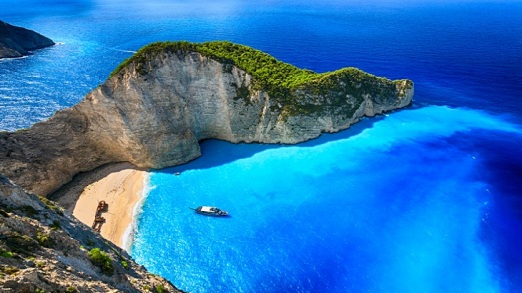 Navagio Beach (Shipwreck Beach), Zakynthos island, Greece. ProPh
